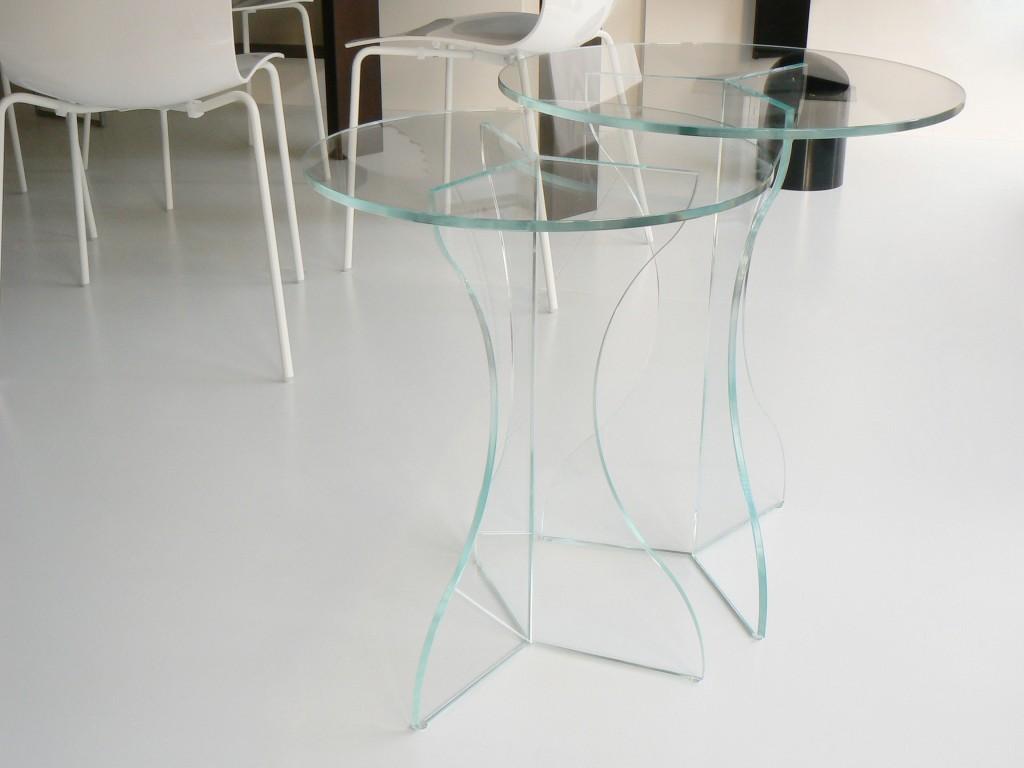 Tavolino cristallo Sara – duetto cristallo | Glass Design
