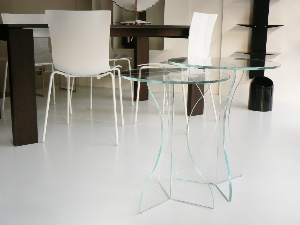 Tavolino cristallo Sara – duetto cristallo | Glass Design